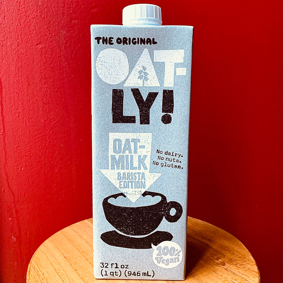 Lait d'avoine Oatly!